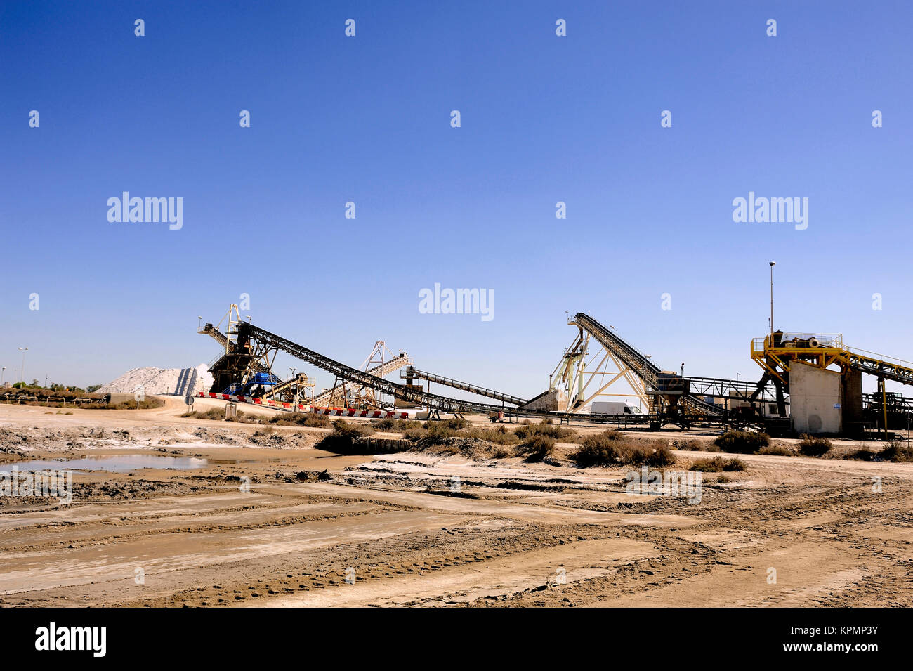 Site operating company saline Aigues-Mortes - Stock Image