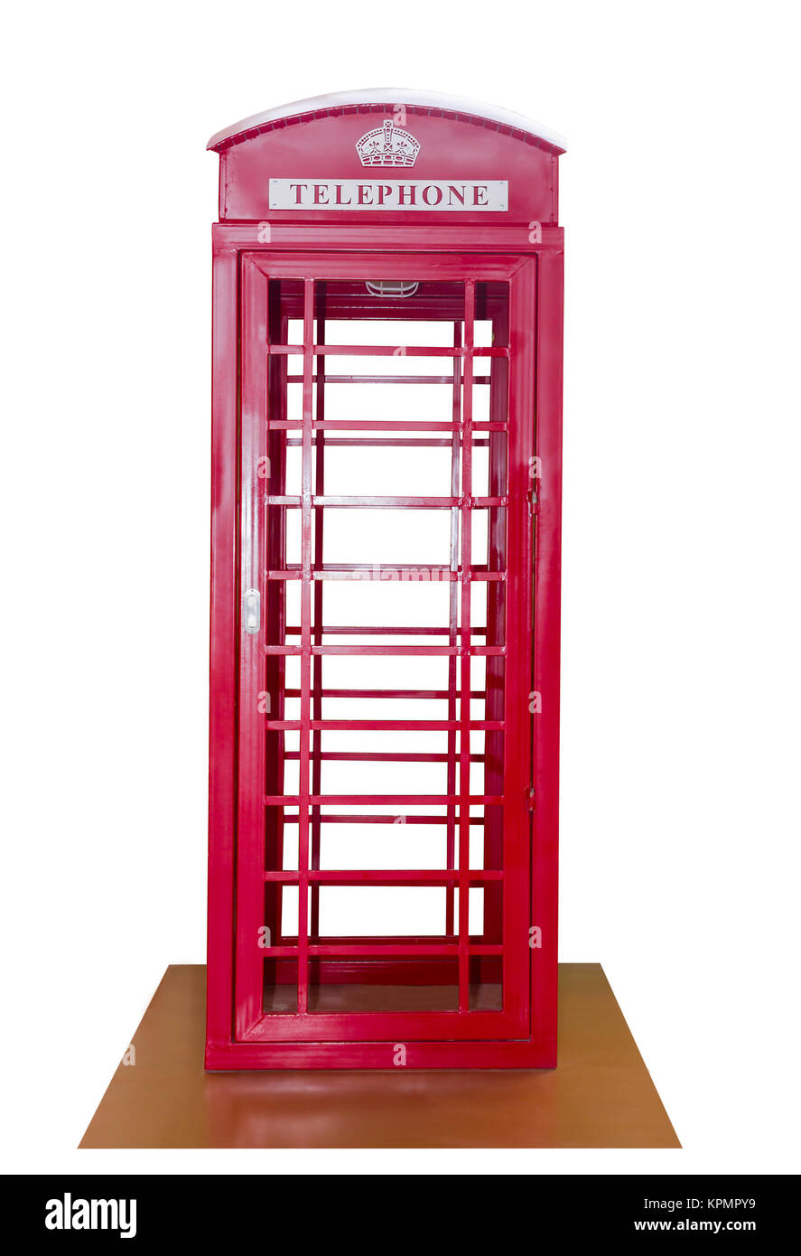Classic British red phone booth - Stock Image