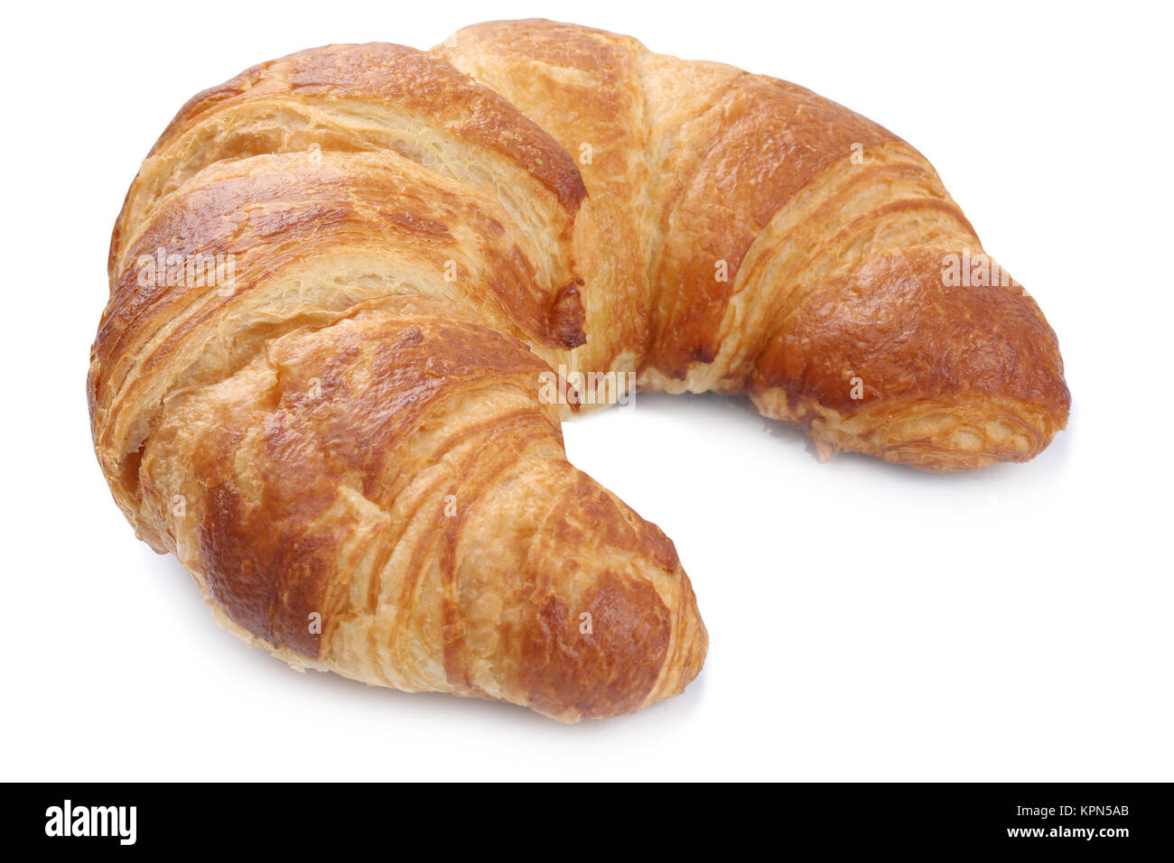 croissant isolated exempted for breakfast cut Stock Photo