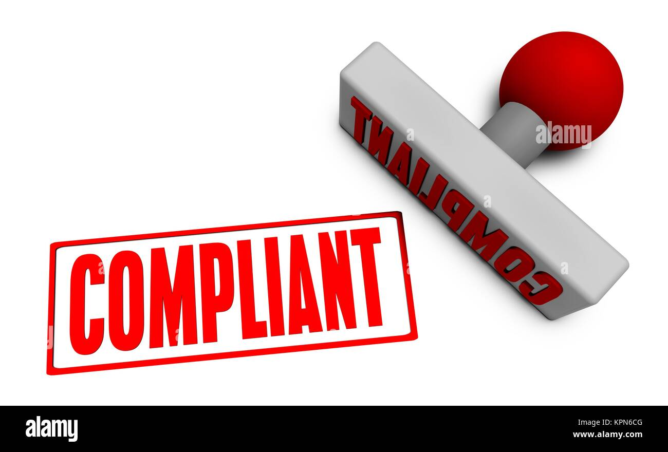 Compliant Stamp - Stock Image