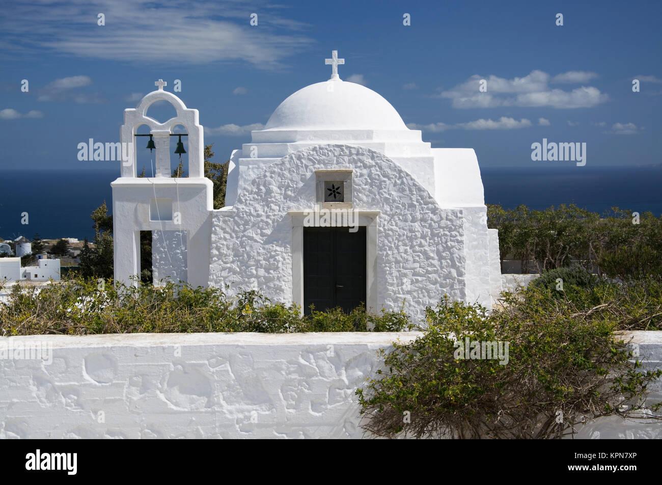 church in fira,santorini,greece - Stock Image