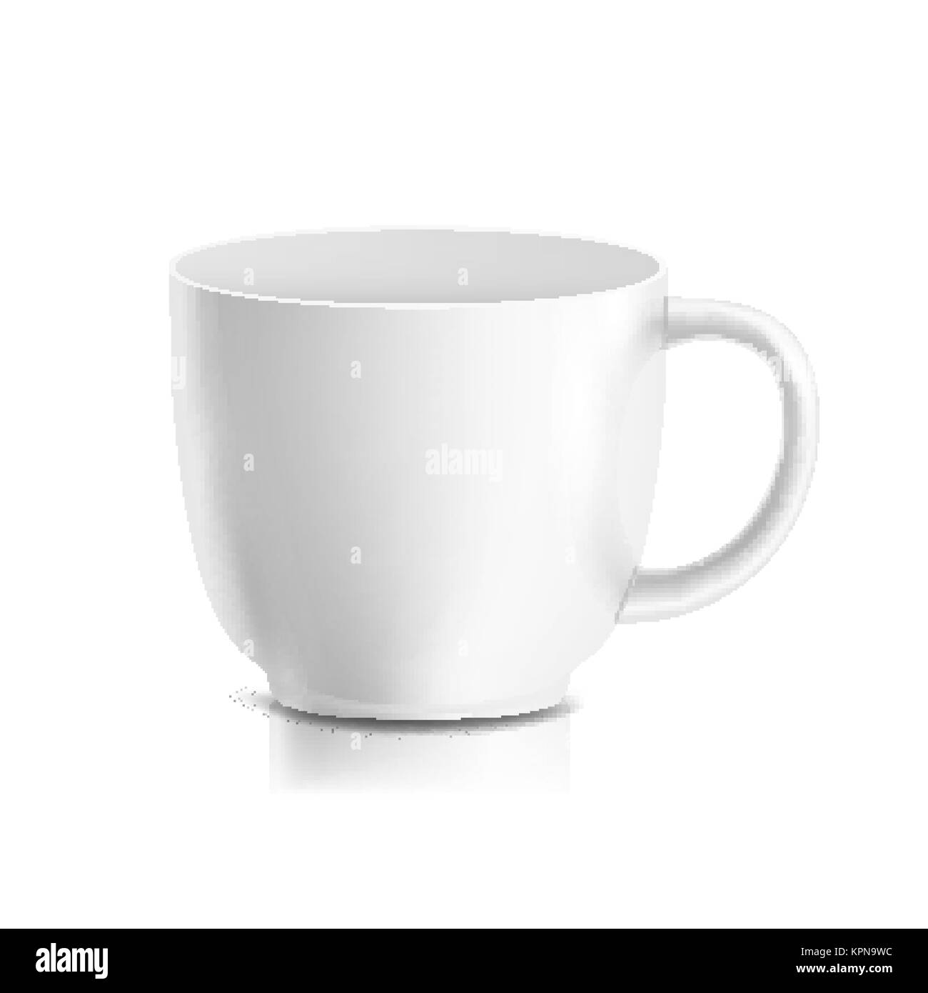 White Mug Vector 3d Realistic Ceramic Coffee Tea Cup Isolated On Stock Vector Image Art Alamy