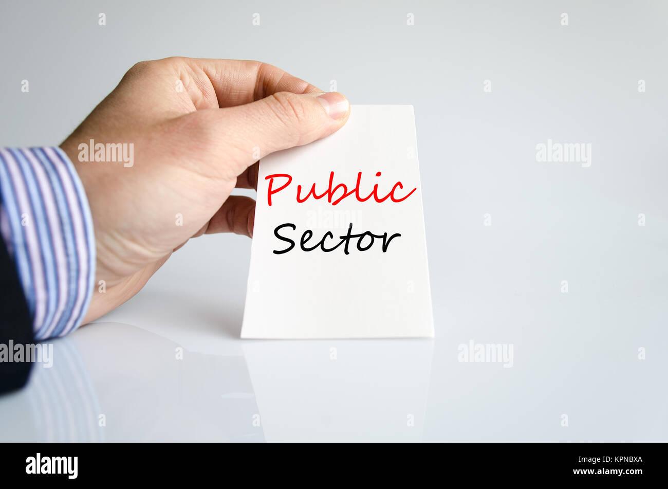 Public sector text concept Stock Photo