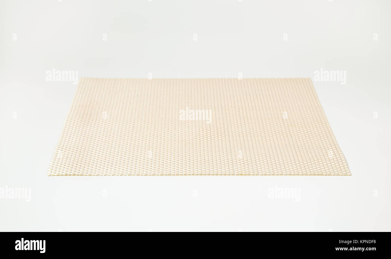 Rectangular vinyl placemat - Stock Image