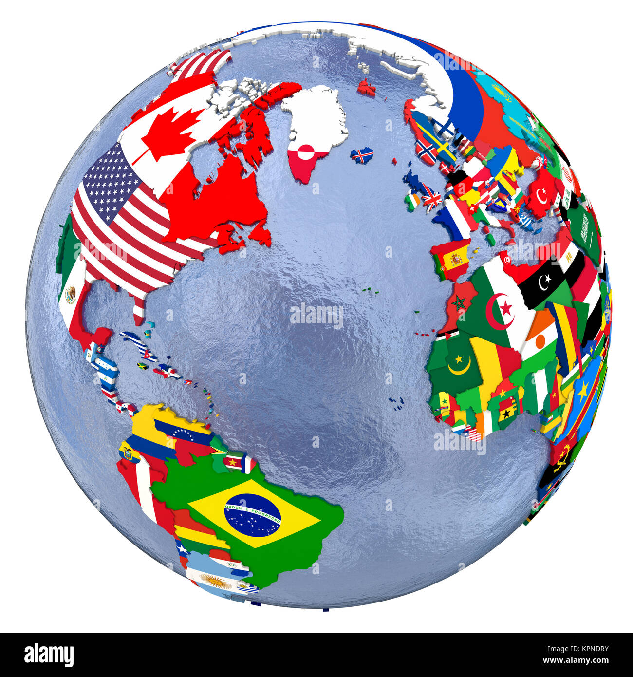 Political Northern Hemisphere Map   Stock Image