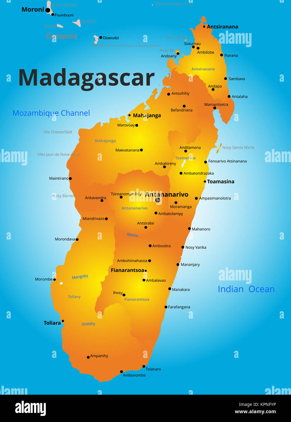 color map of Madagascar country Stock Photo 168889274 Alamy