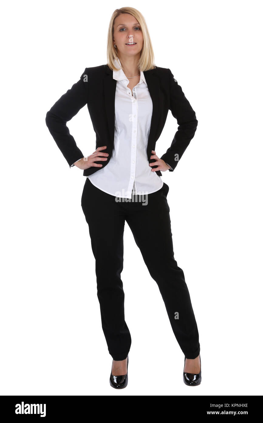 Businesswoman Suit Secretary Boss Business Woman Standing Stock
