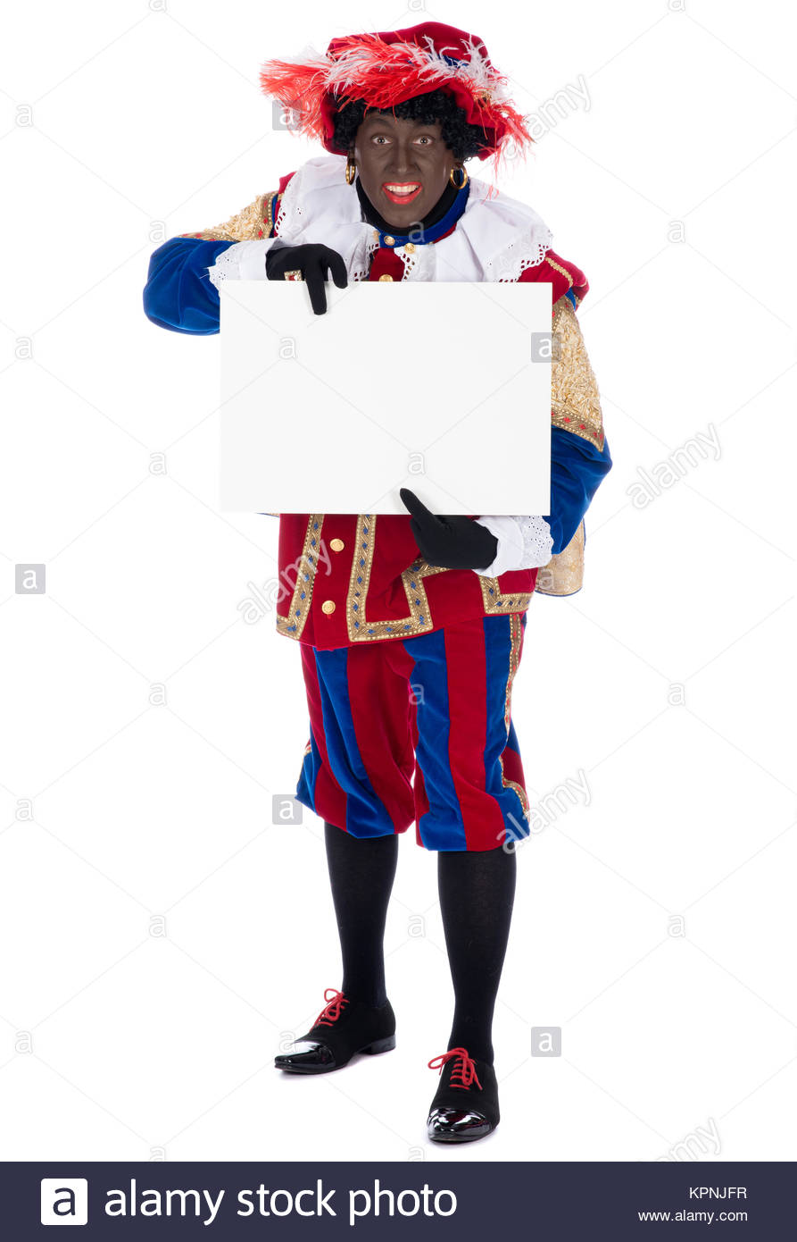 Zwarte Piet with whiteboard - Stock Image