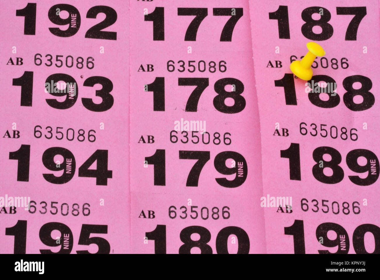 Tombola Lottery Numbers Stock Photos & Tombola Lottery Numbers Stock