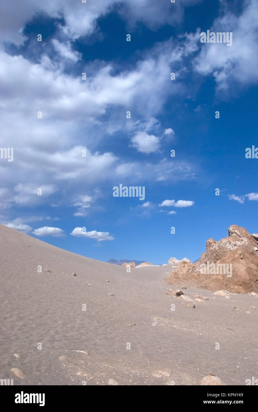 Valle de la Luna, Tal des Mondes, Atacamawueste, Chile, Suedamerika - Valle de la luna, Atacama Desert, Chile, Soth Stock Photo