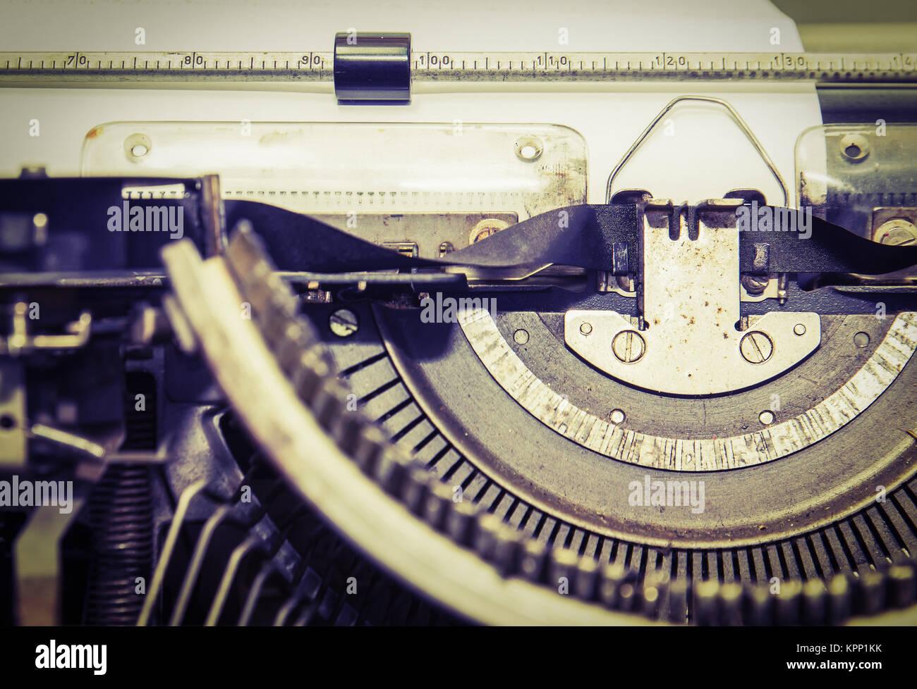 Close up vintage portable typewriter - Stock Image