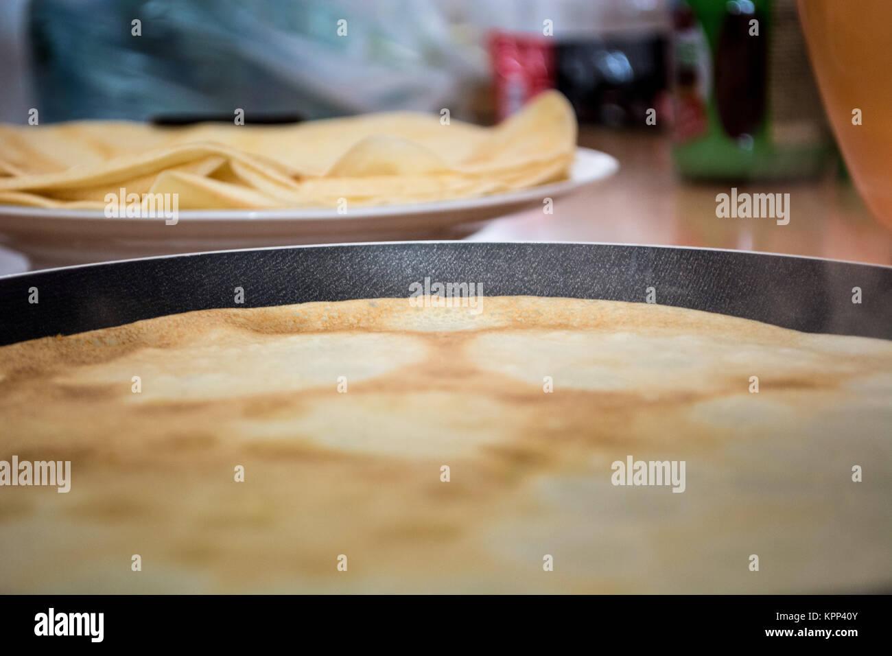 Closeup of pancakes - Stock Image