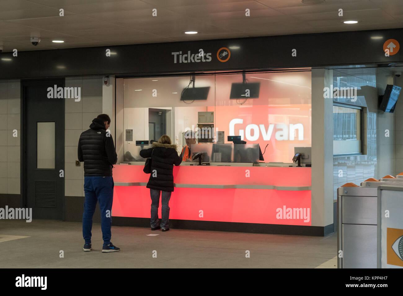 Govan subway station, Glasgow, Scotland, U - Stock Image