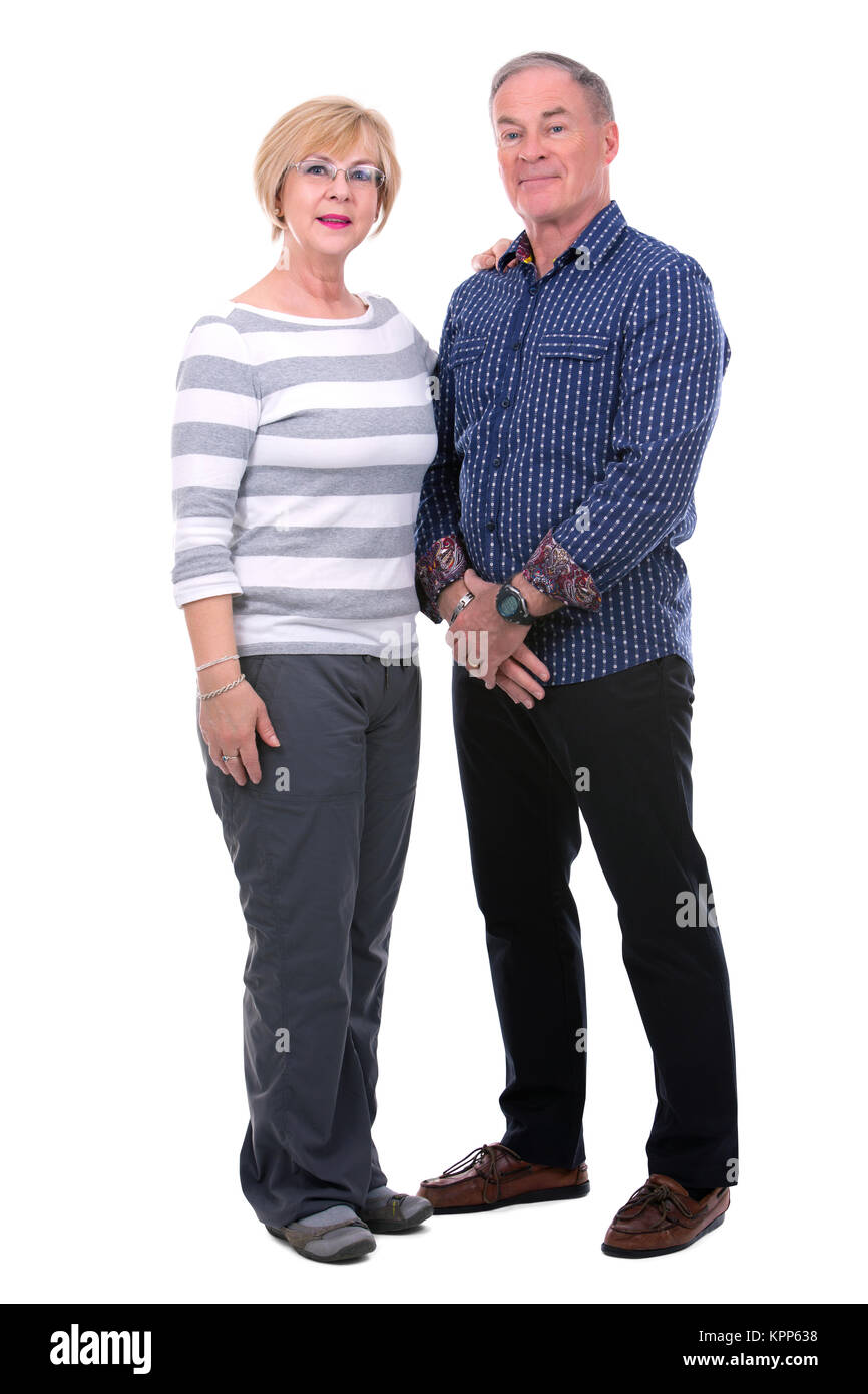 casual caucasian couple - Stock Image