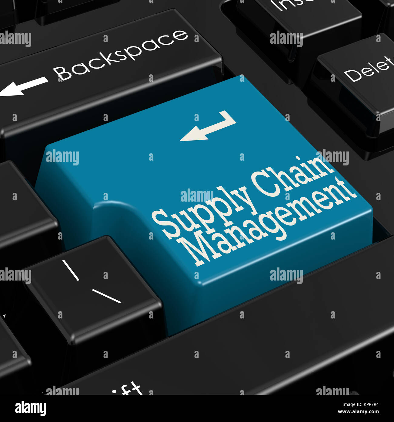 Supply chain management concept 3D Render Stock Photo