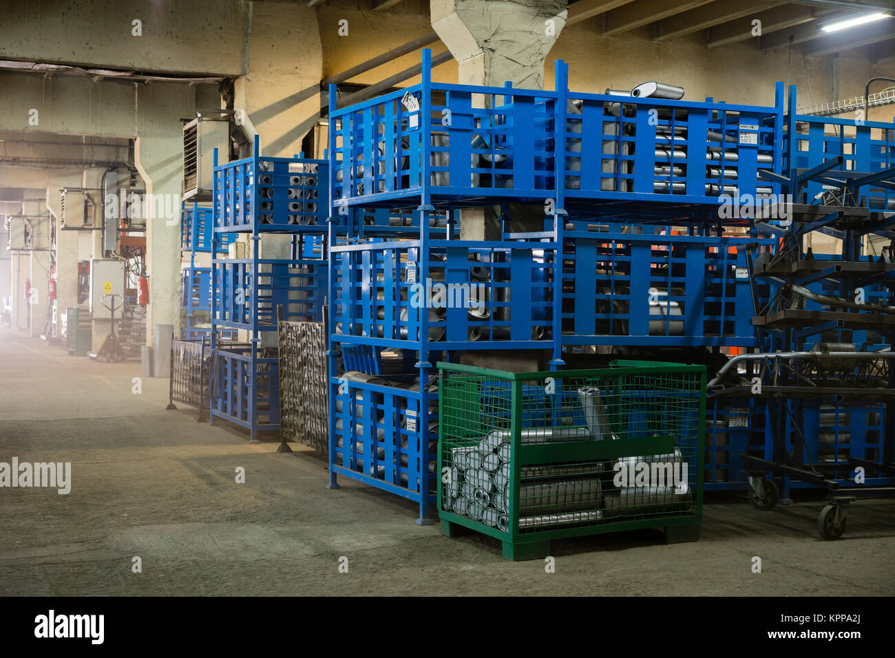 view of an industrial hall Stock Photo