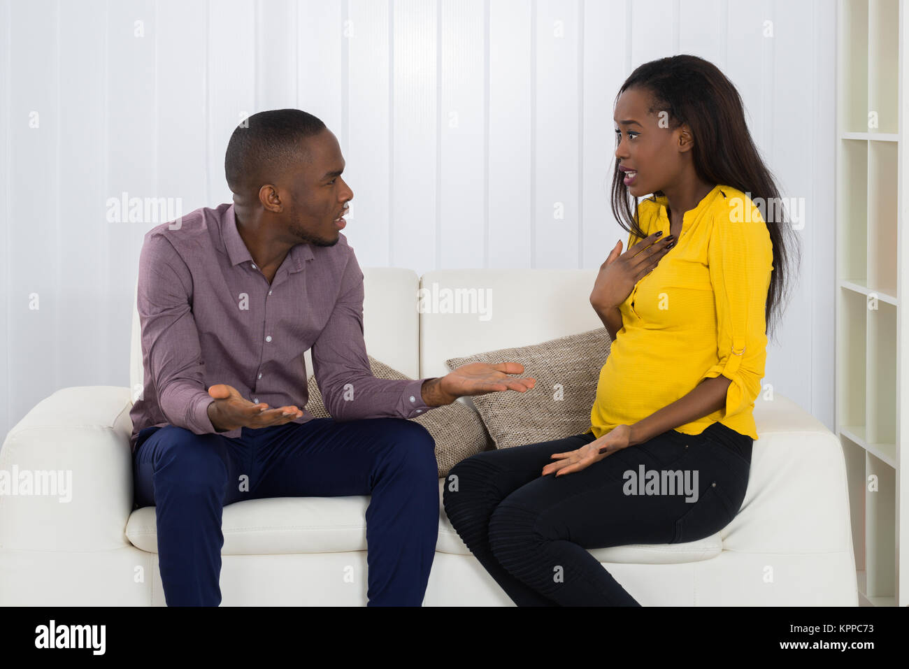 Couple Quarreling With Each Other - Stock Image