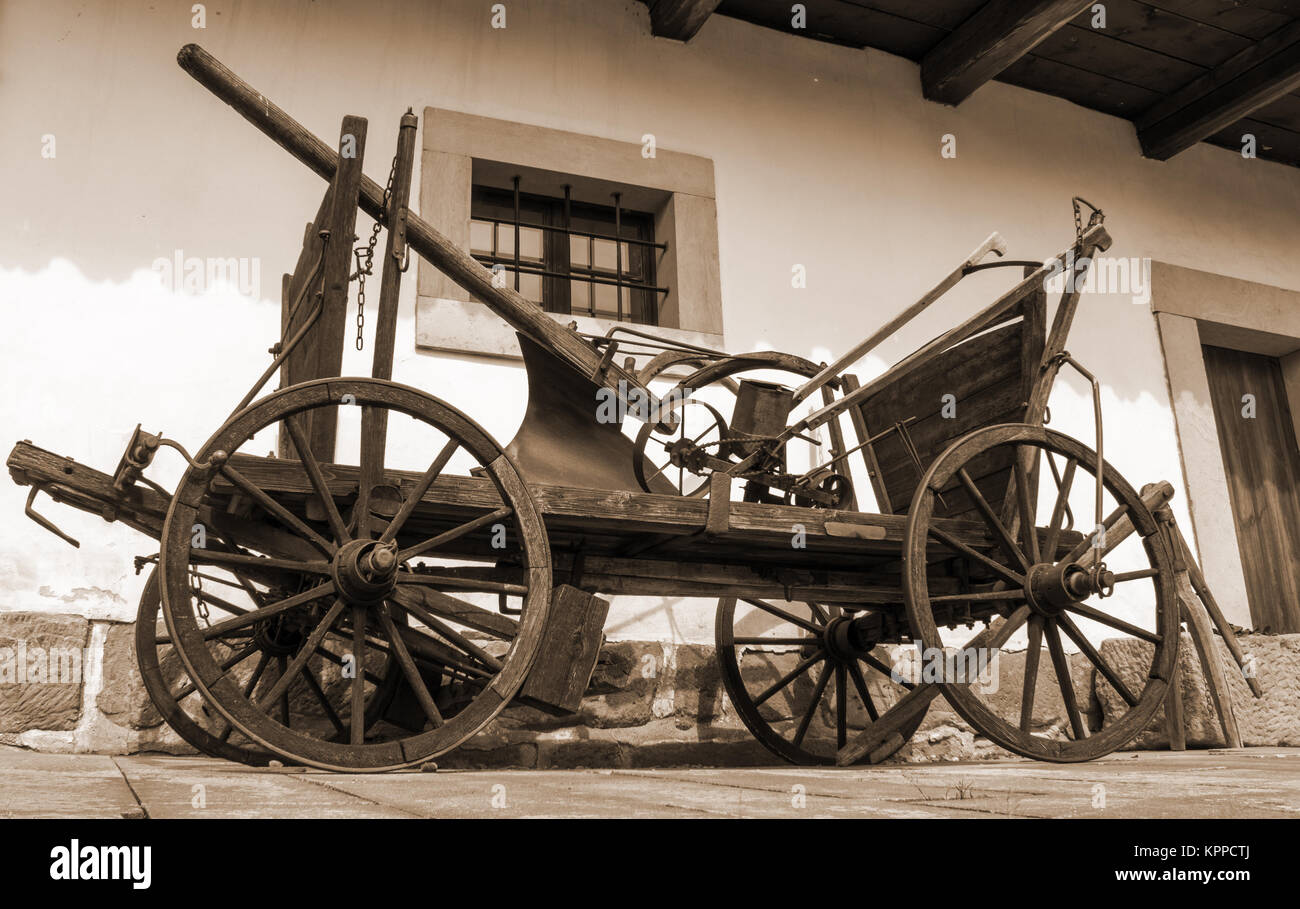 An old carriage that binds to a horse. - Stock Image
