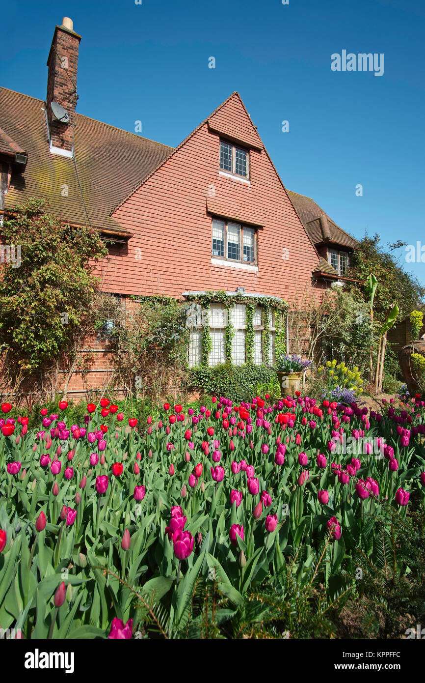 The Old Vicarage Arts and Crafts House at East Ruston Norfolk - Stock Image