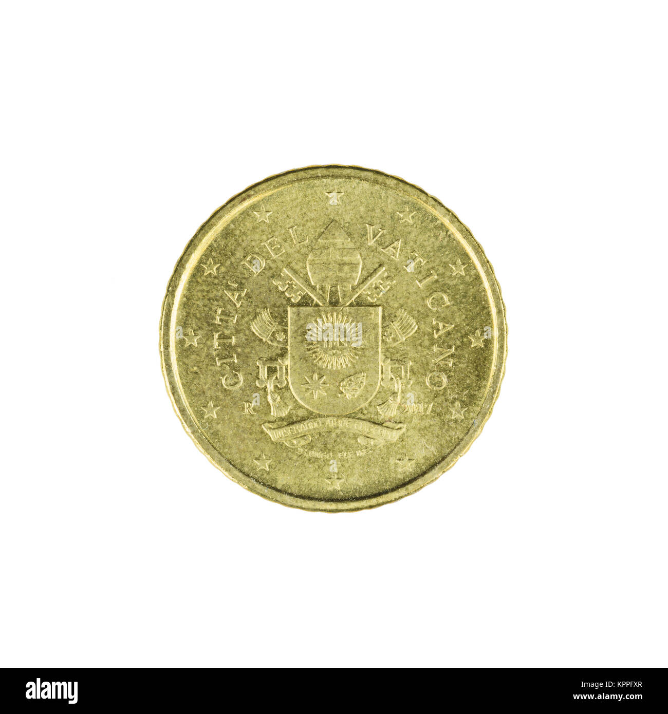Fifty cent euro coin - Stock Image