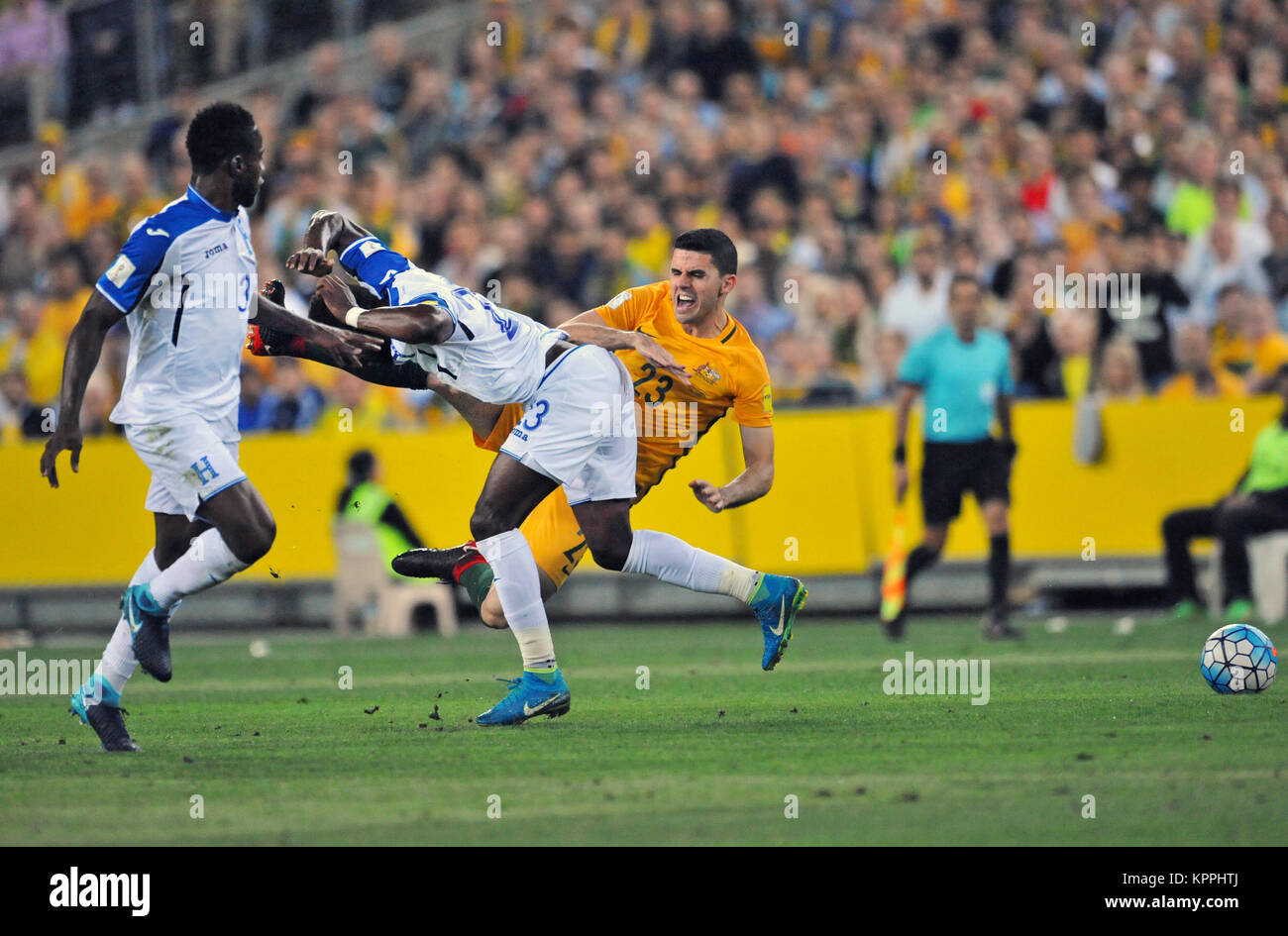 Australia defeated Honduras 3-1 to win the World Cup Intercontinental Playoff and qualify for the World Cup finals - Stock Image