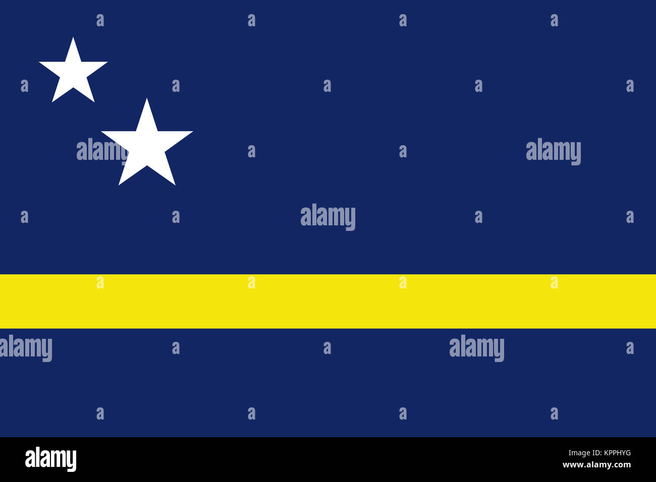 National flag of Curacao - Stock Image