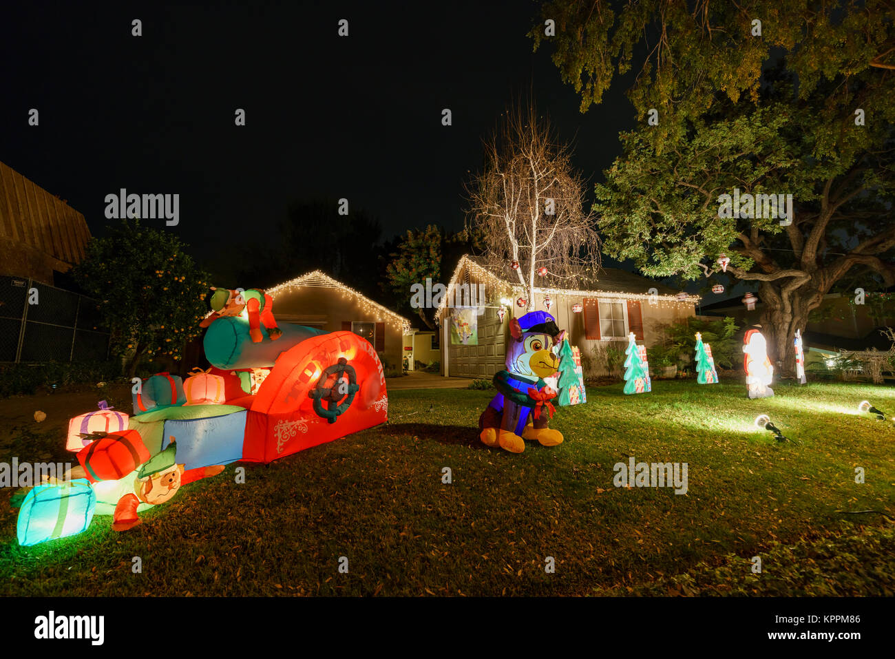 los angeles dec 15 beautiful christmas lights in upper hastings ranch neighborhood on dec 15 2017 at los angeles