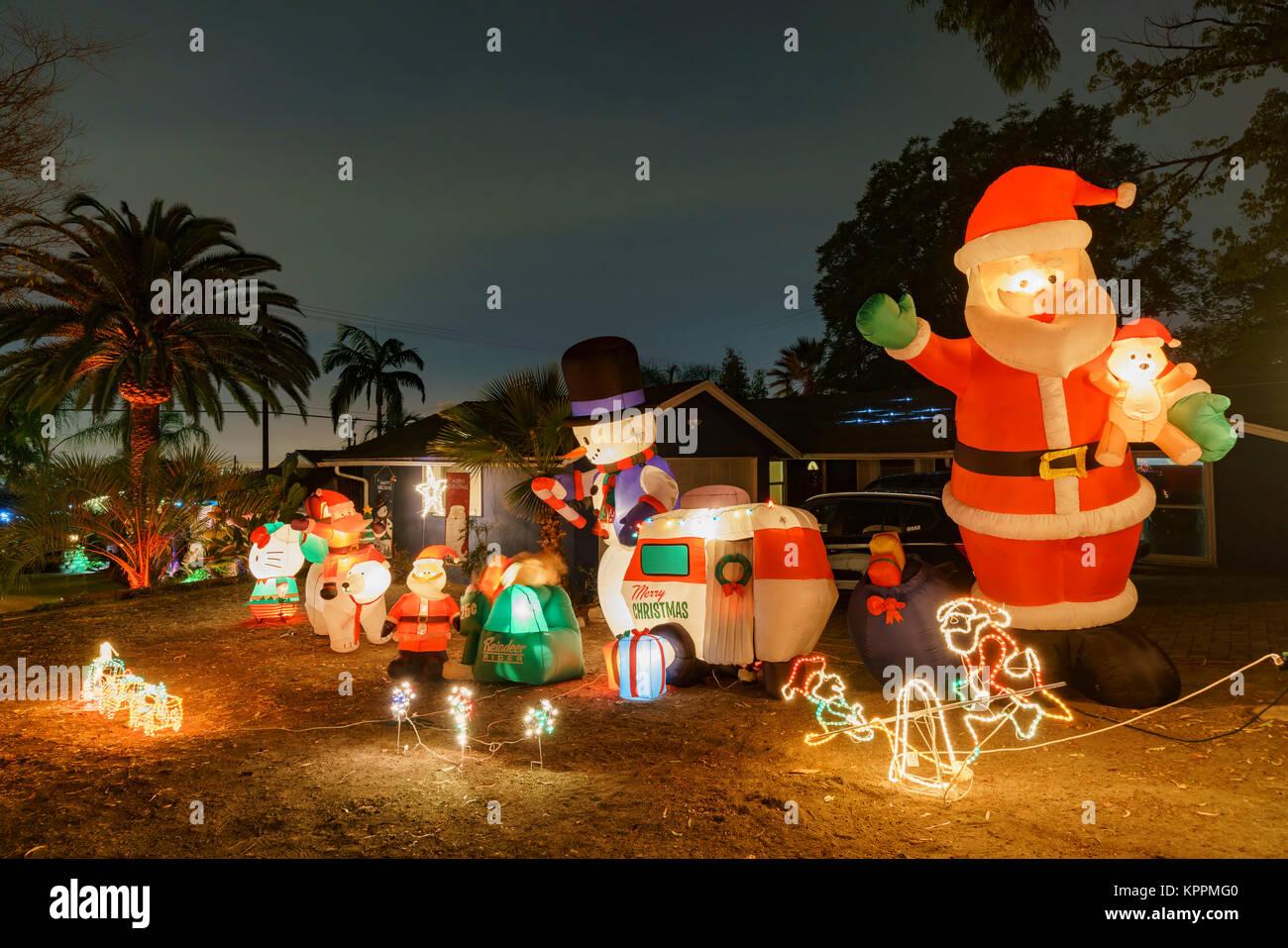 los angeles dec 15 beautiful christmas lights in upper hastings ranch neighborhood on dec