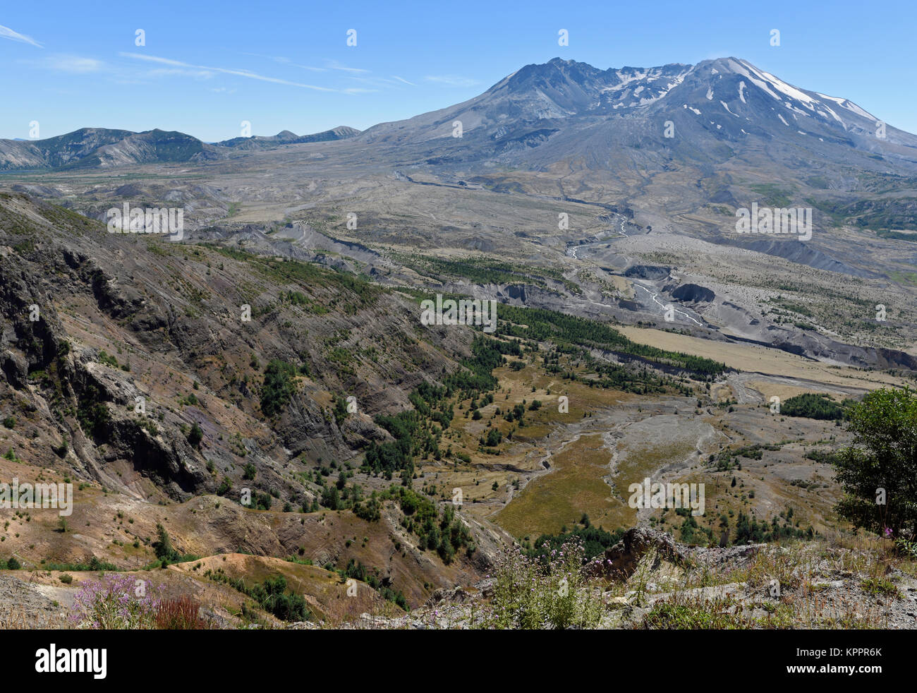 Mount St. Helens volcano in Washington State, USA - Stock Image