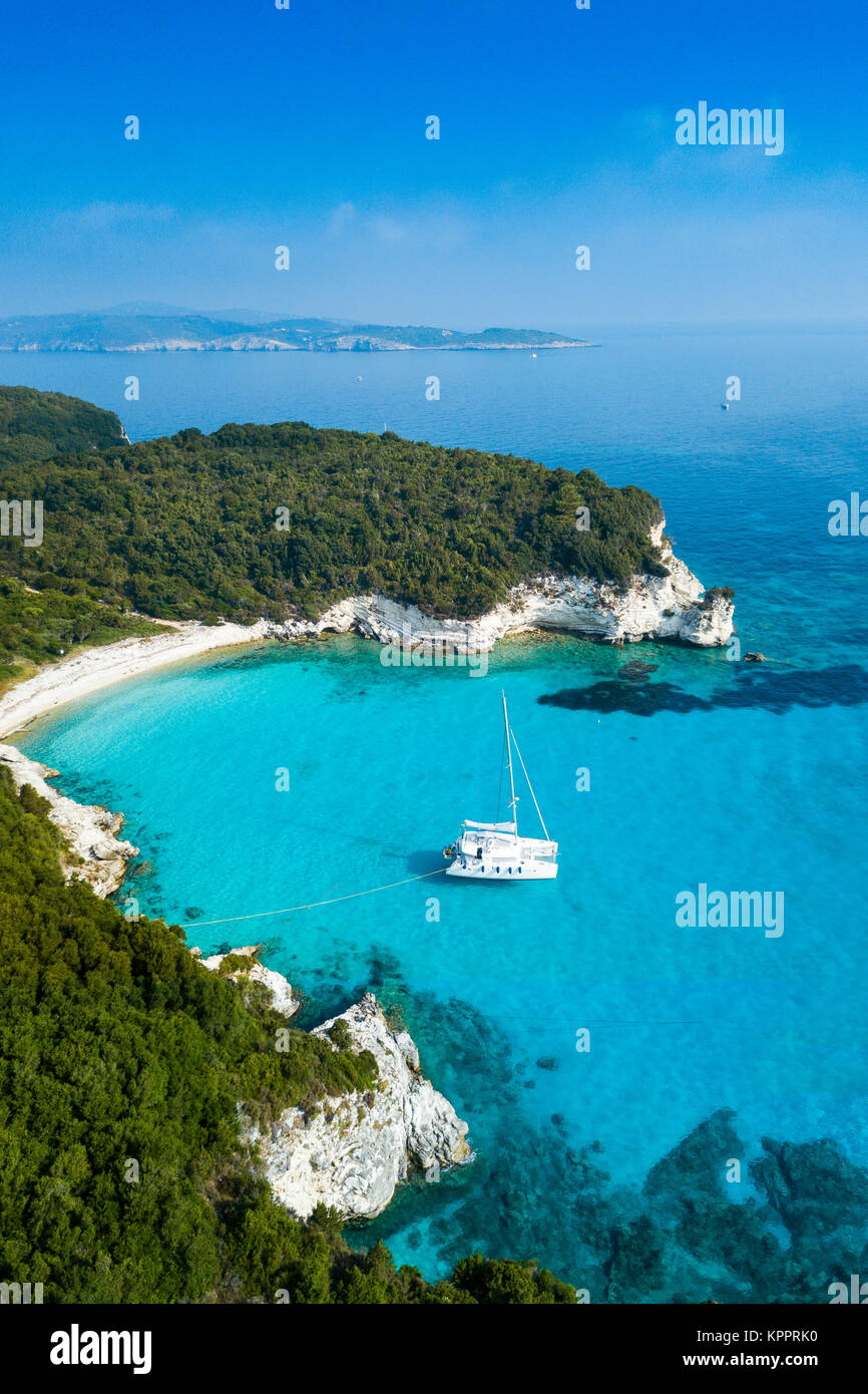 AntiPaxos coastline, Greece - Stock Image