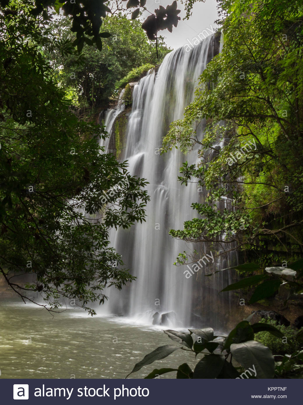 Catarata Llano de Cortés, Llano de Cortés Waterfall and forest - Stock Image