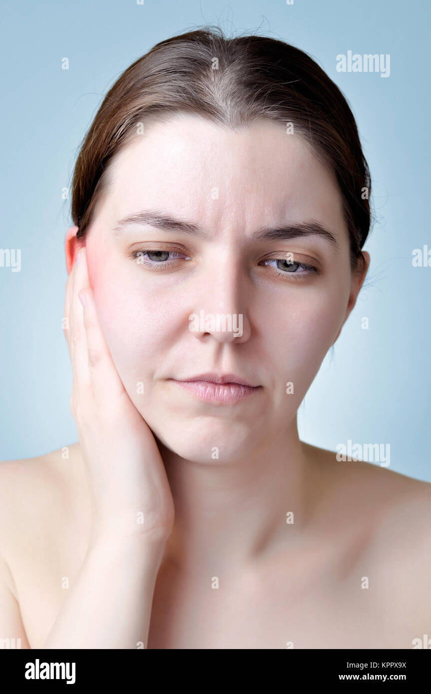 Ear inflammation - Stock Image