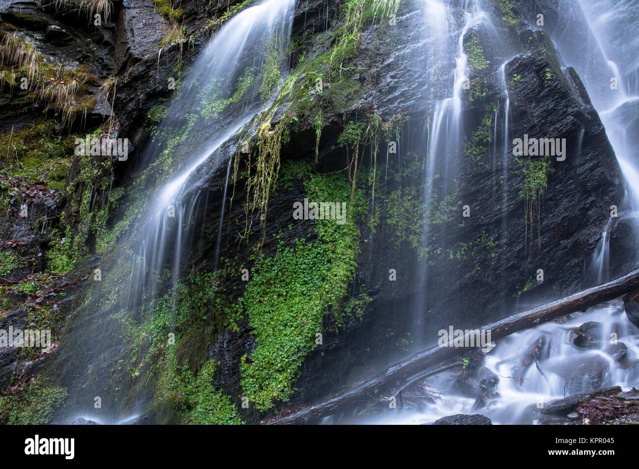 Europe, Germany, the waterfall Plaesterlegge in Bestwig in the low mountain range of the Sauerland region.  Europa, Deutschland, Sauerland, der Wasser Stock Photo