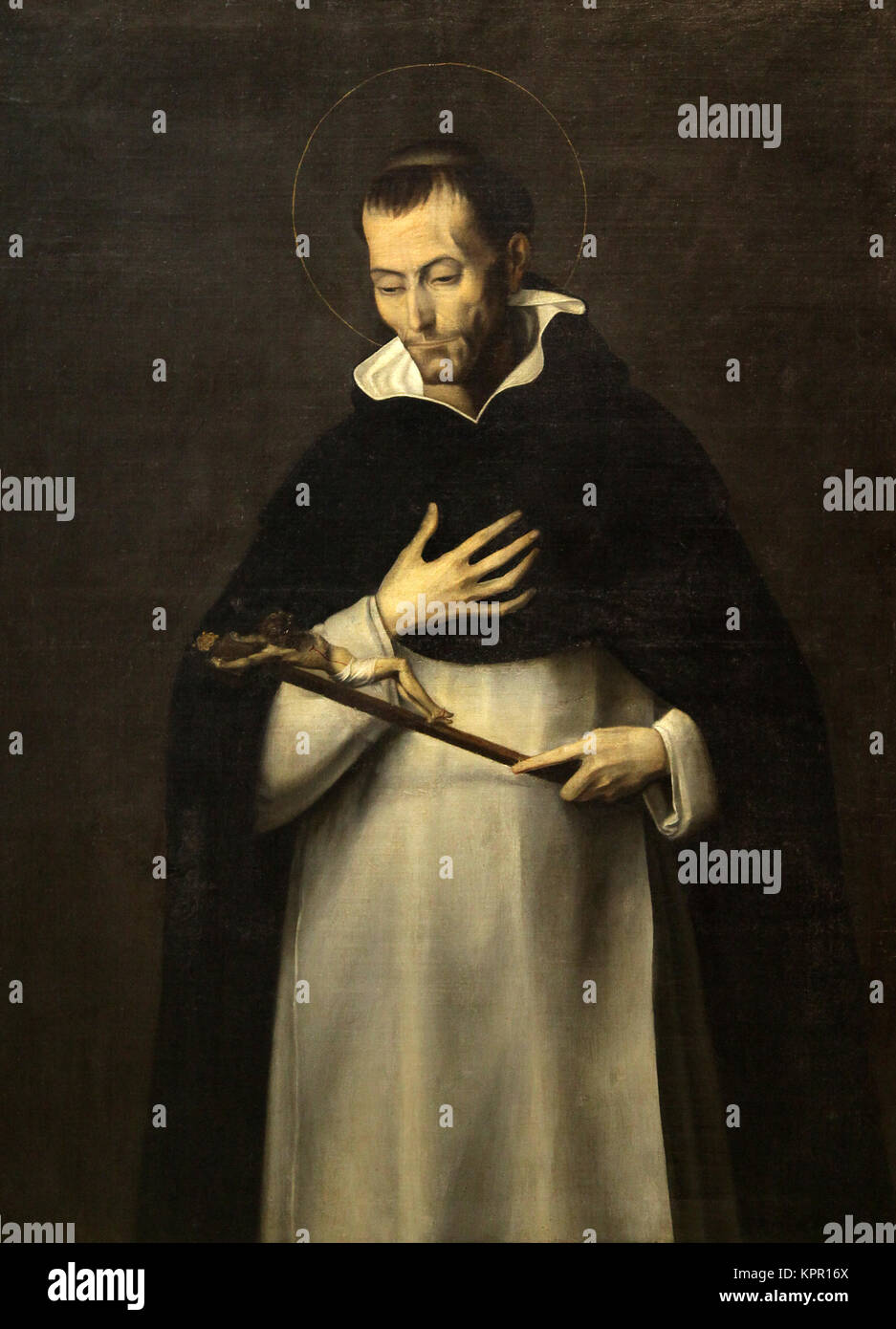 the Venerable Louis Bertrand 1584 by Juan Sariñena 1545-1619 spanish painter - Stock Image