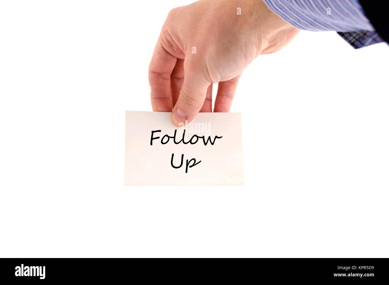 Follow up text concept - Stock Image