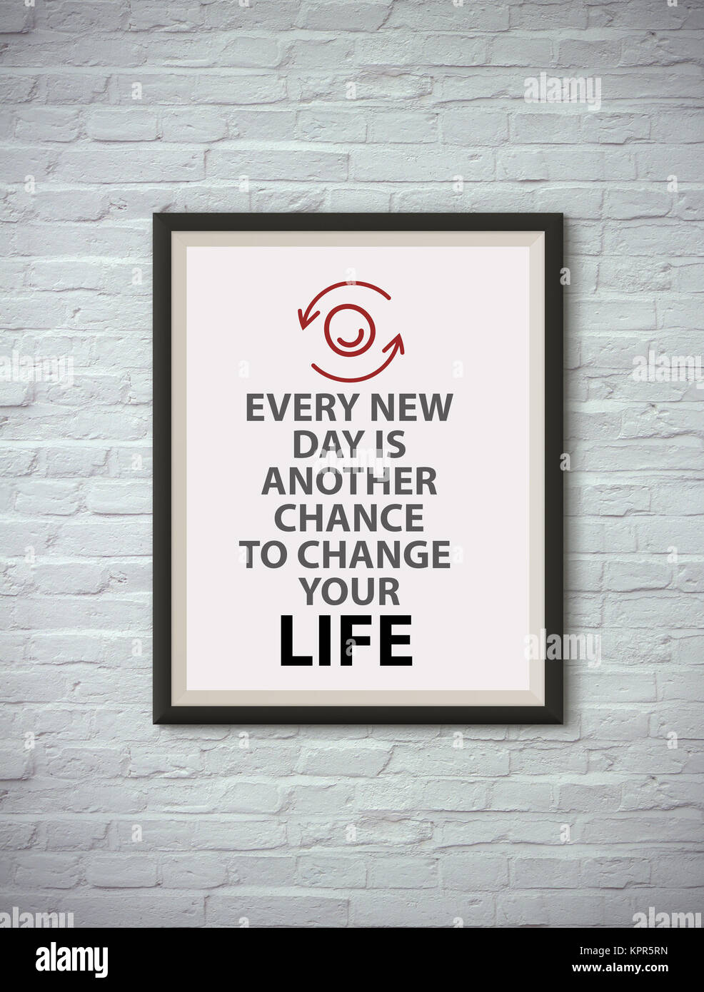 Inspirational motivating quote on picture frame Stock Photo ...