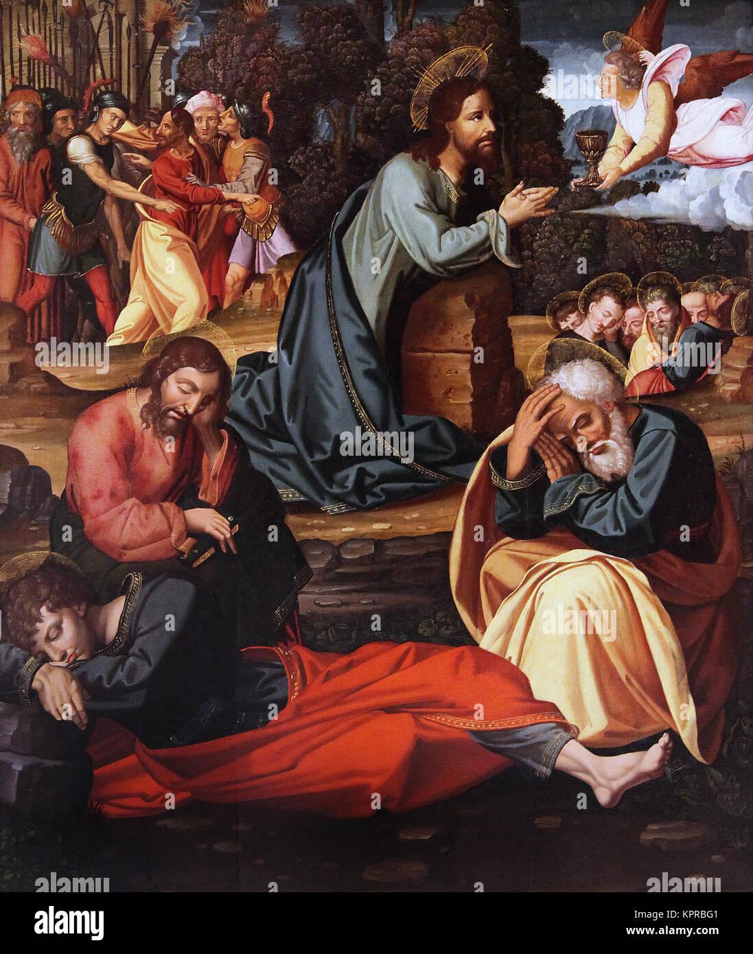 The Agony in the Garden.Oracion en el Huerto. by Felipe Pablo de San Leocadio c.1480 Valencia Spain - Stock Image