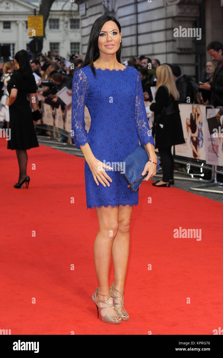 Linzi Stoppard attends The Other Woman UK Gala Premiere at the Curzon Mayfair in London. 2nd April 2014 © Paul - Stock Image