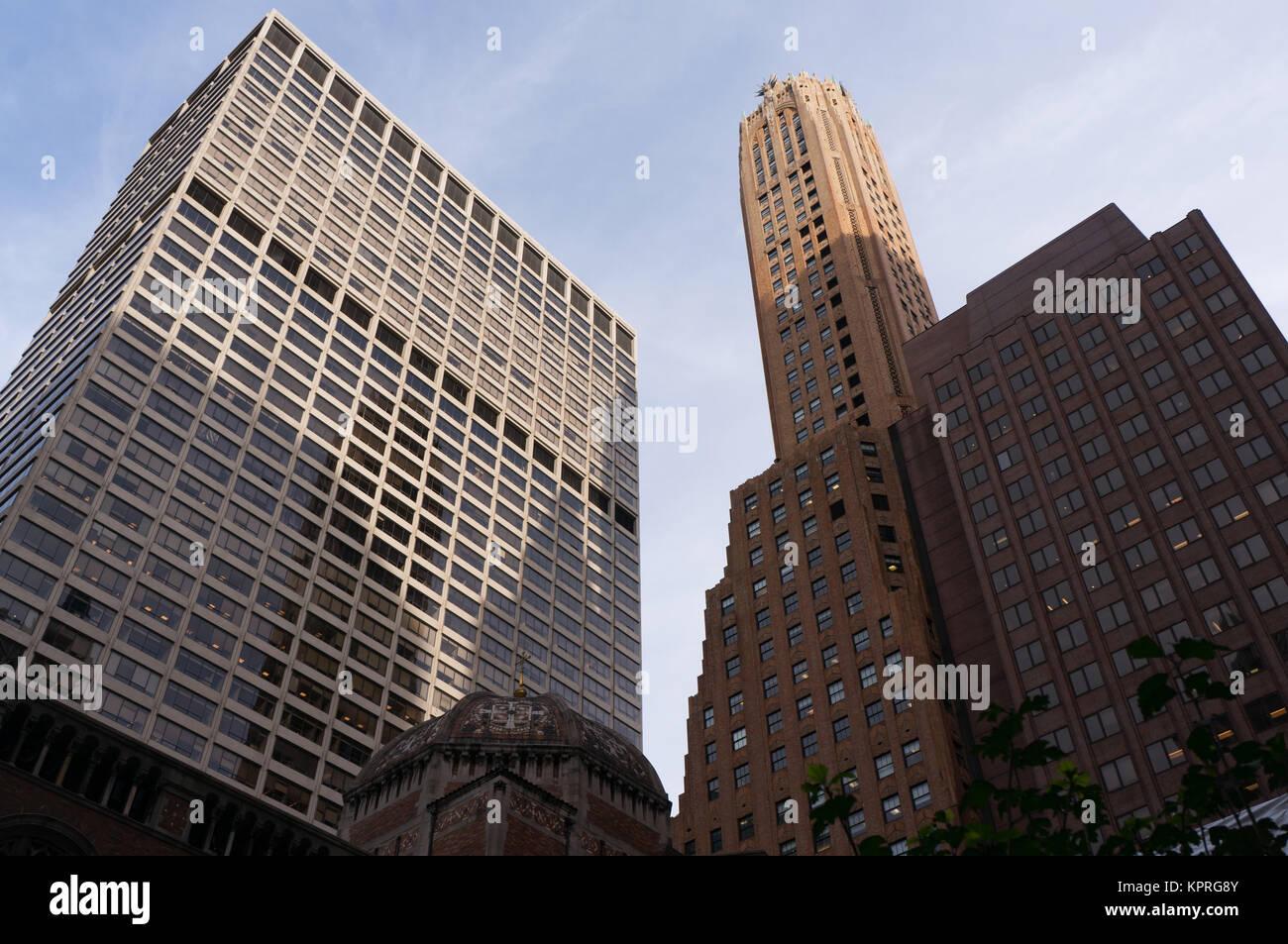 New York City ist eine Weltstadt an der Ostküste der Vereinigten Staaten. - Stock Image
