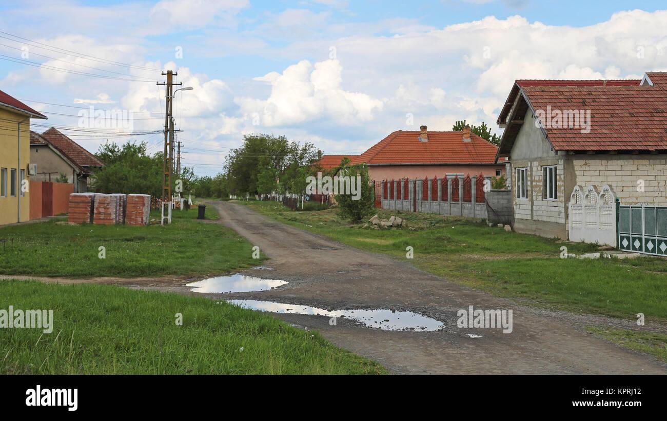 Romanian Village - Stock Image