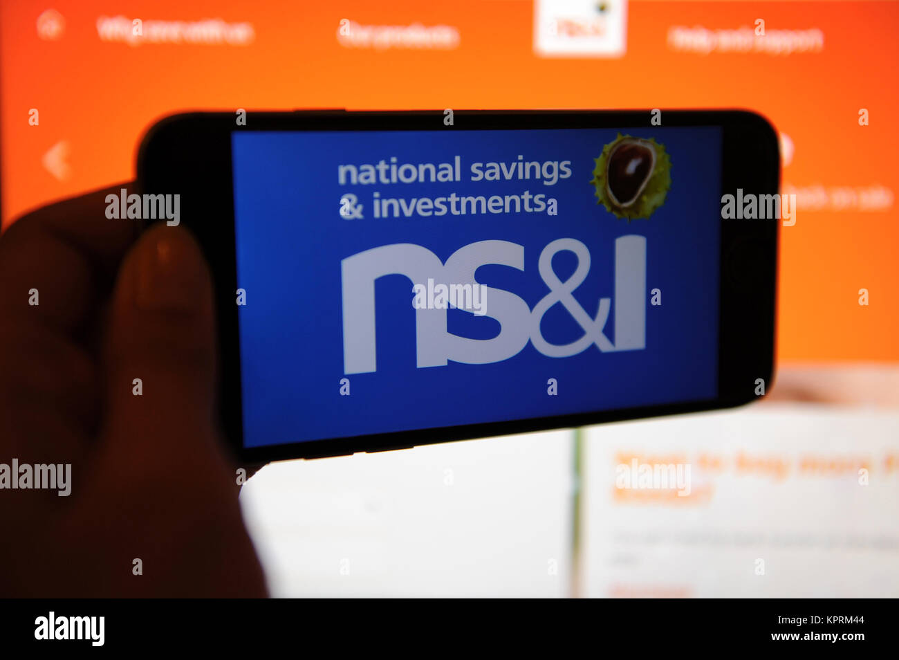 The National Savings Investments Ns I Logo On A Phone