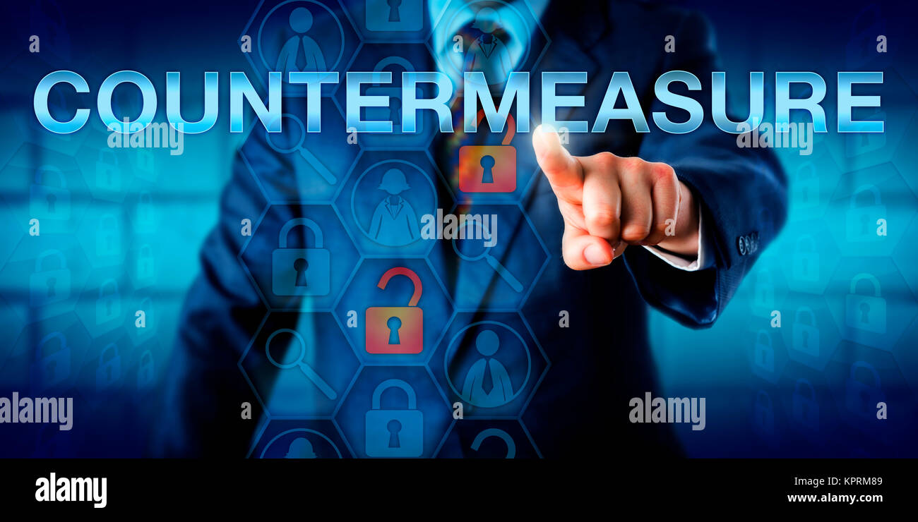 Manager Touching COUNTERMEASURE - Stock Image