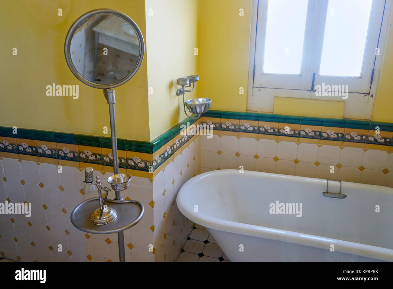 Antique bathroom fixtures in Chapultepec Castle in Chapultepec Park ...