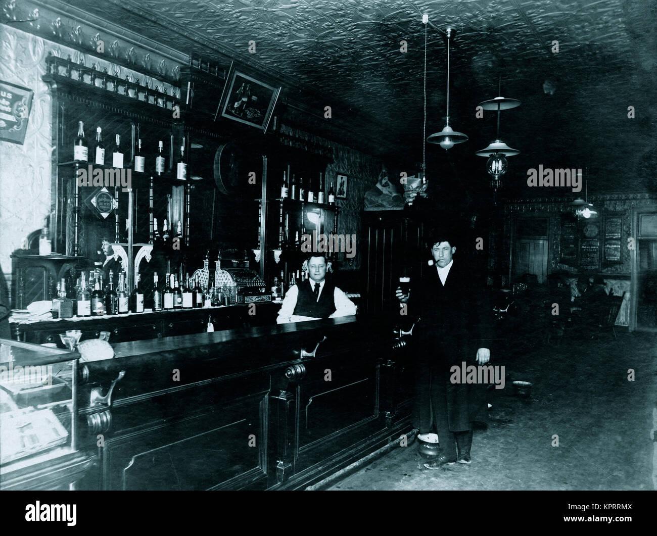 Saloon 1890'S - Stock Image