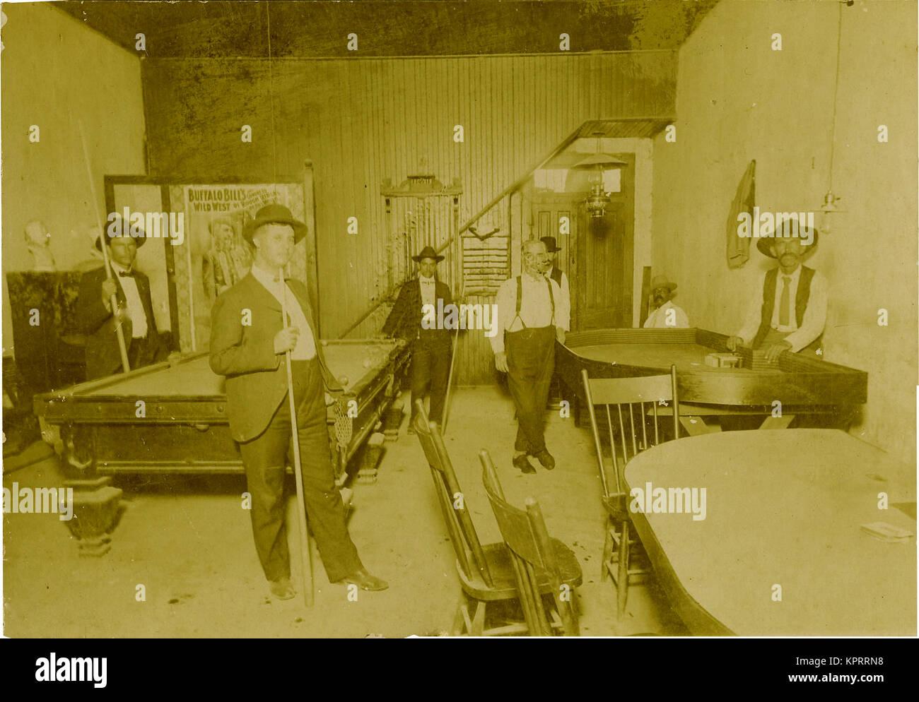 Saloon, Gambling Hall, & Poster Of Buffalo Bill, 1915 - Stock Image