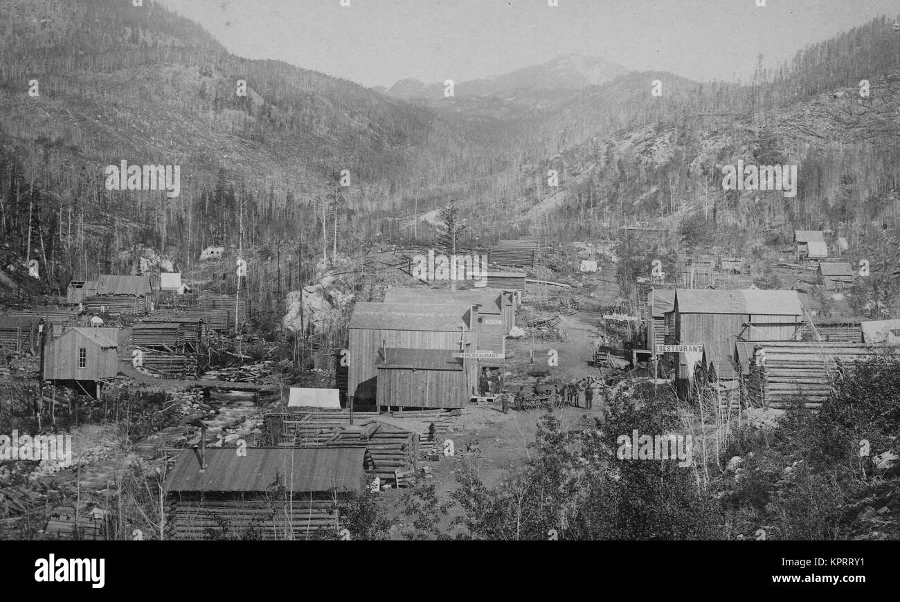 Mining Town, Junction City, Colorado - Stock Image