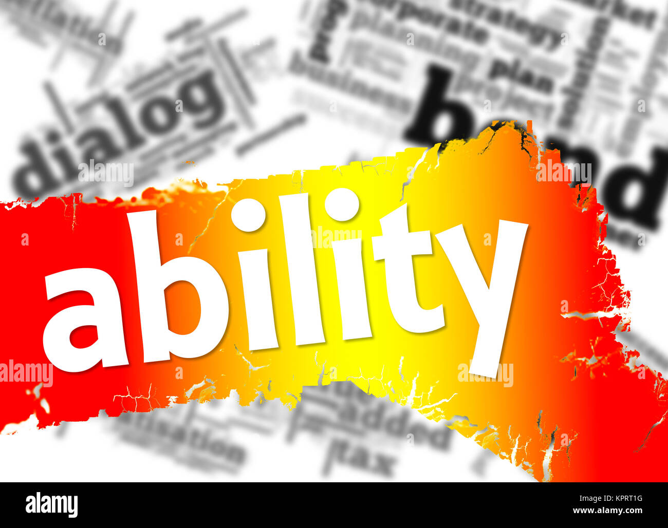 Word cloud with ability word - Stock Image