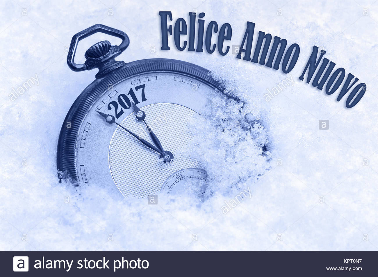New Year 2017 greeting in Italian language, Felice Anno Nuovo text, 2017 greeting, happy new year Stock Photo