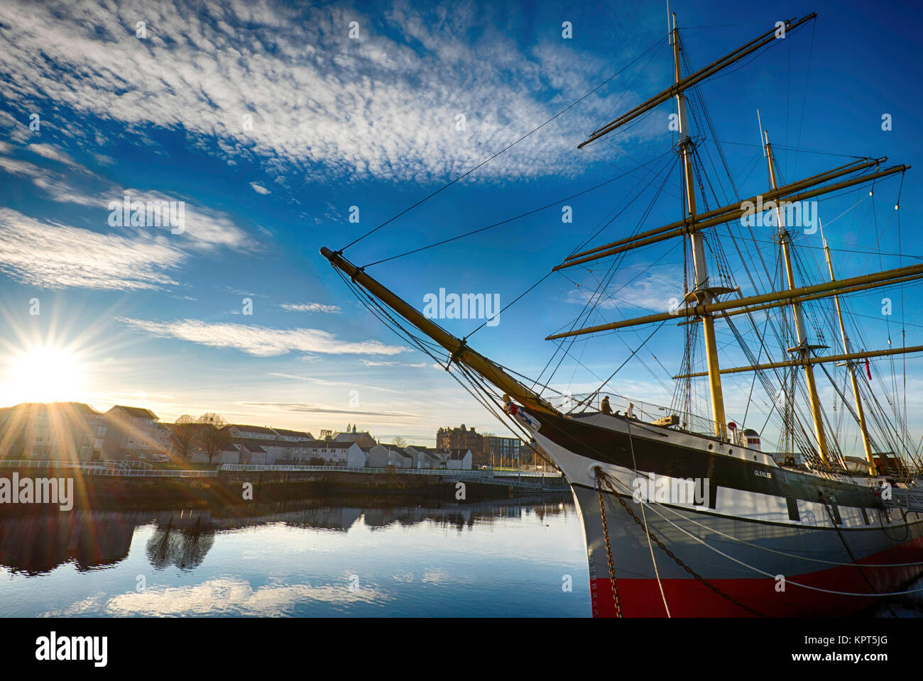 The Tall Ship at the Riverside Museum in Glasgow, Scotland, UK - Stock Image