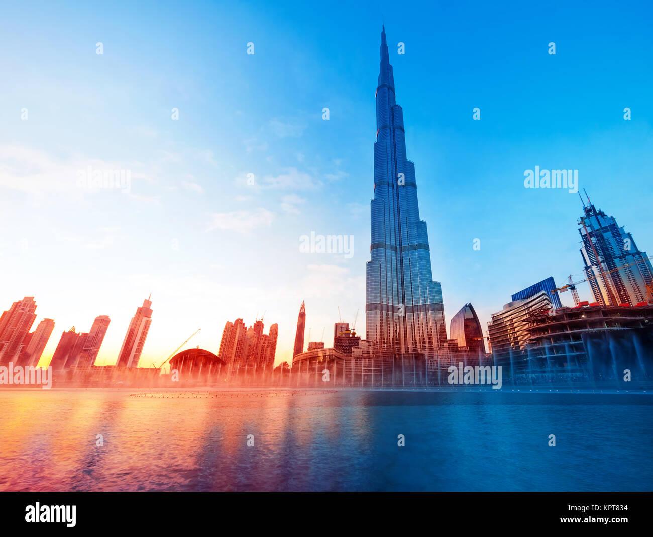 Burj Khalifa Dubai's Landmark - Stock Image